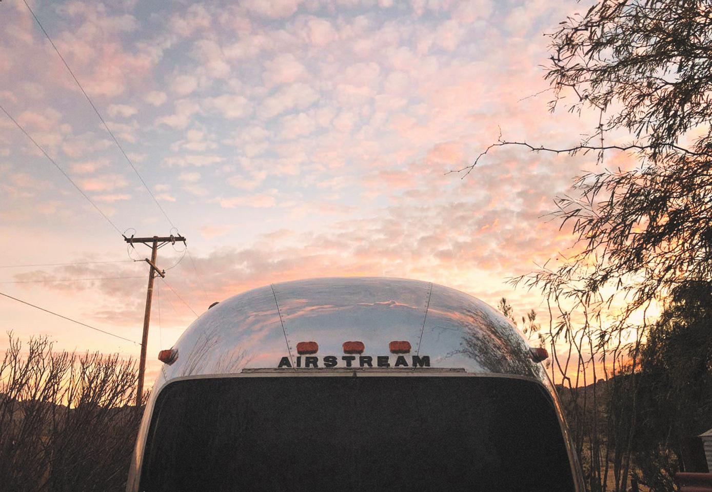 Airstream trailer exterior