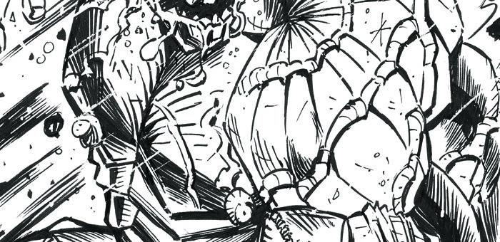 BIG ARM NRG – COMIC BOOK PIN-UP