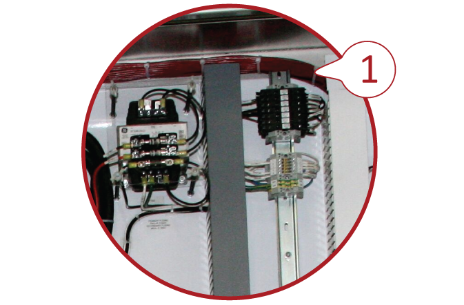 """Image 1 of 3 """"Wires outside duct are neatly bundled/secured."""""""