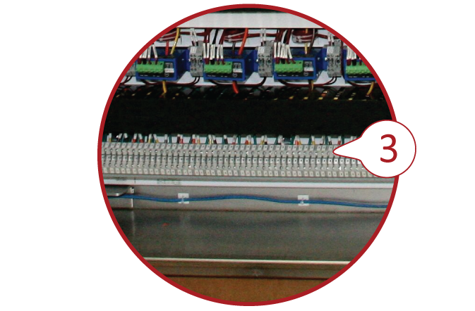 Image 3 of 3 which demonstrates how shows adequate room available for field wiring.
