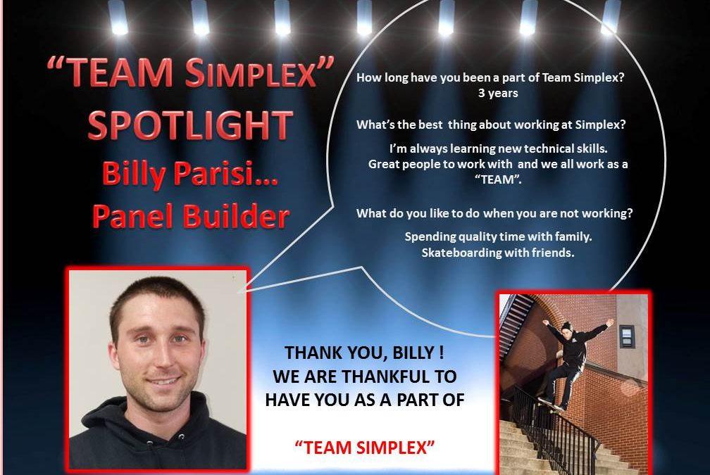 Team Simplex Billy Parisi