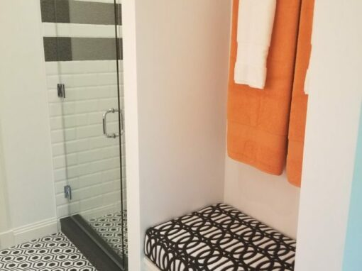 Valone Black and Orange Bathroom View 2