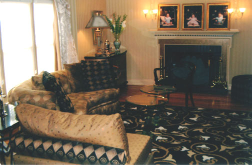 Needham Black and Beige Living Room
