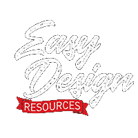 Easy Design Resources Script Logo for Dark Backgrounds