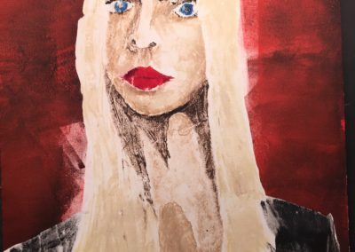 Girl With Red Lipstick