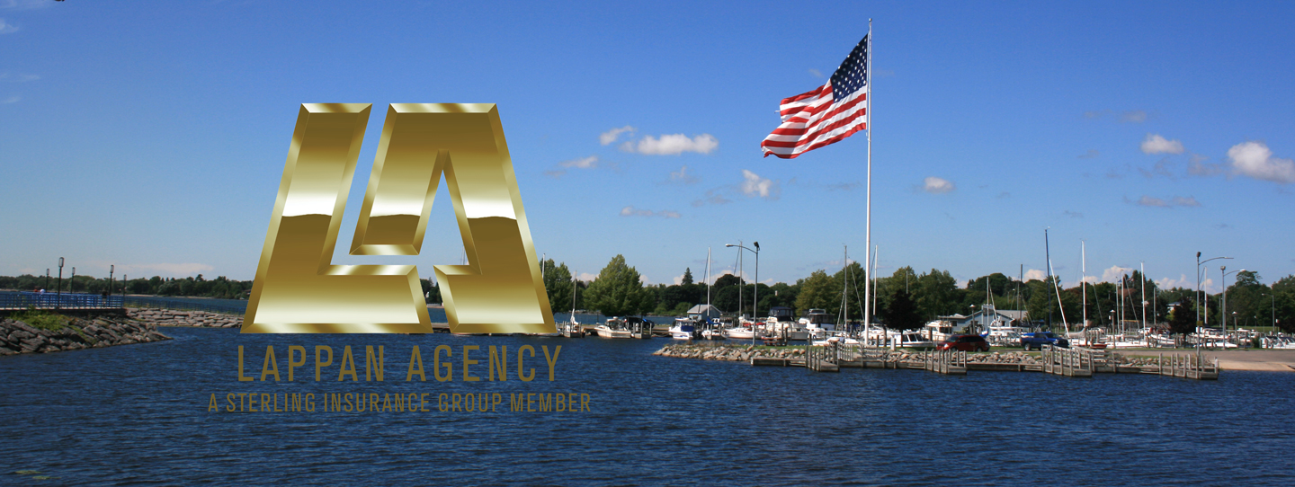 Alpena Michigan Flag in Harbor