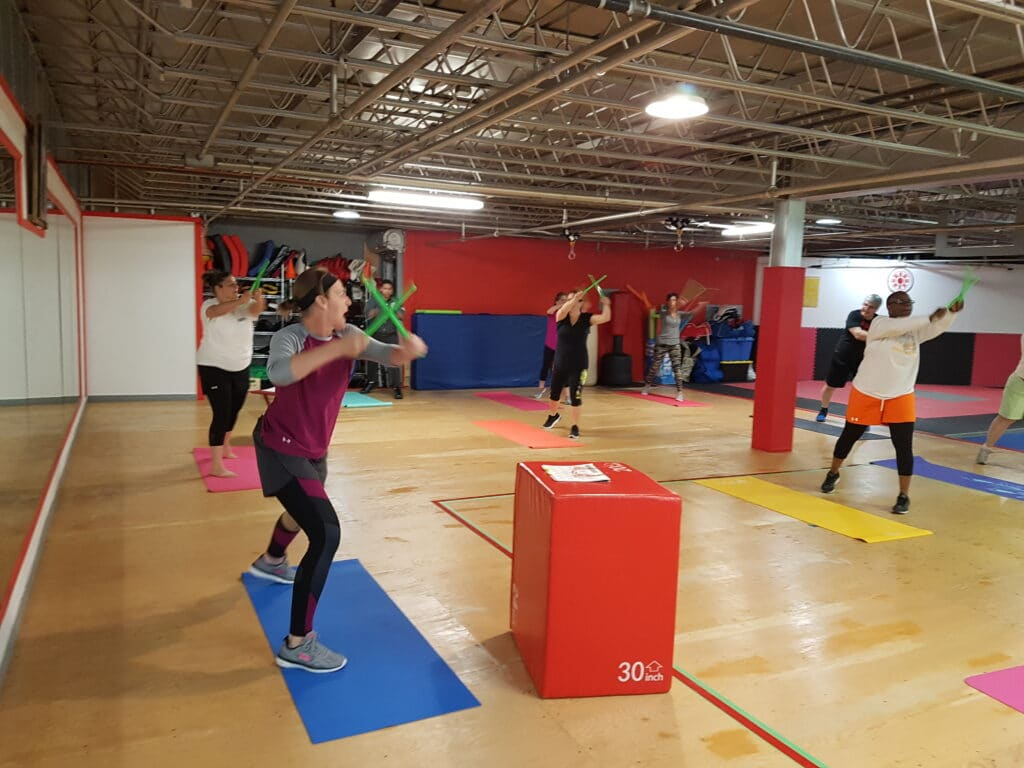 V-Fit P.R.O. Pound class in the gym