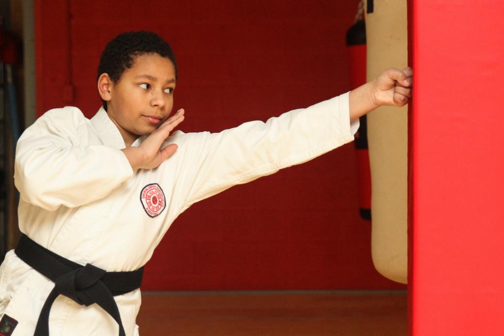 Karate classes for junior black belts
