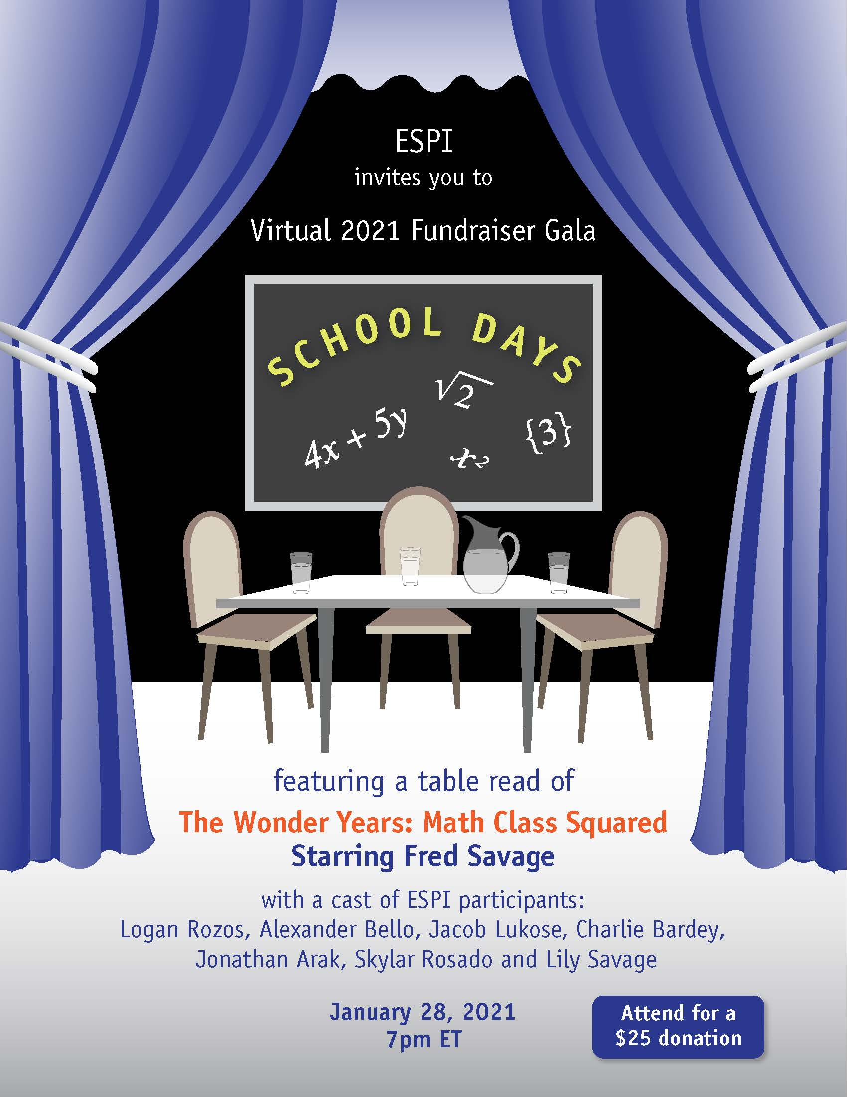 School Days Virtual 2021 Fundraiser Gala