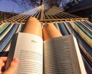 Girl Reading in a hammock