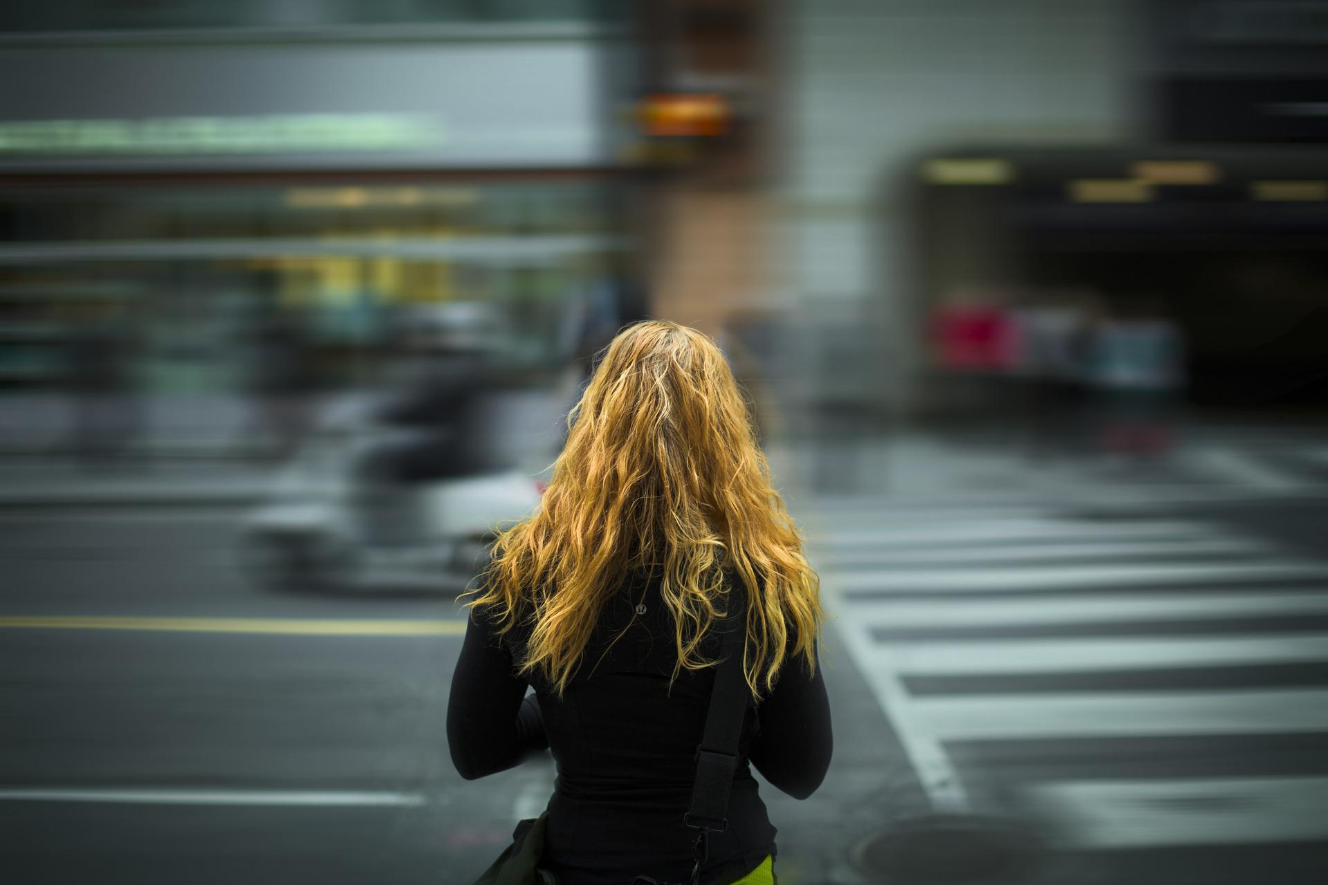 woman in street