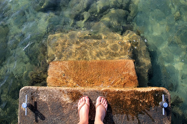 step into the sea
