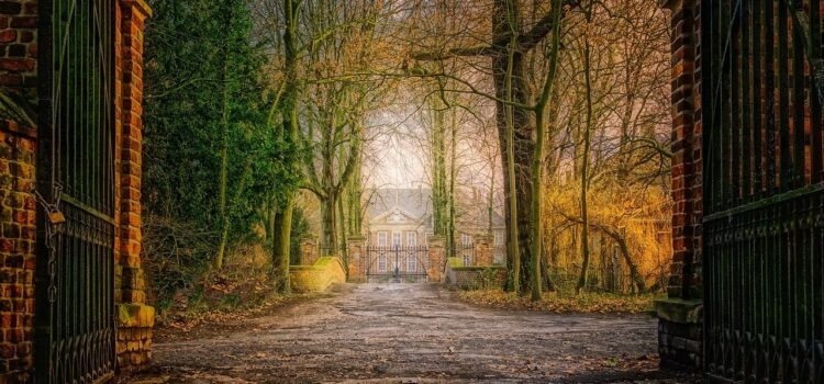 gates to the house