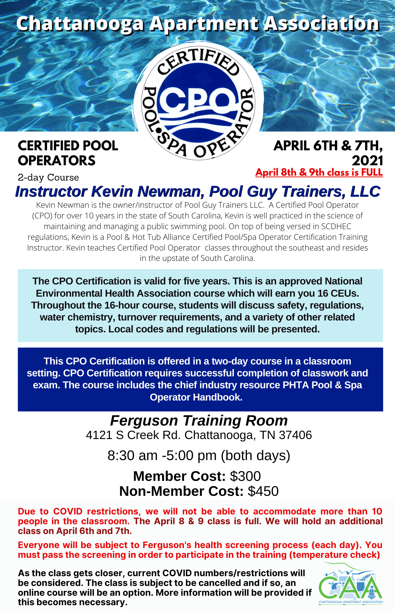 CPO Course @ Ferguson Training Room