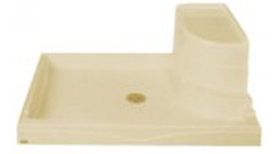 """Seated Shower Base 48"""" x 34"""" x 18"""""""