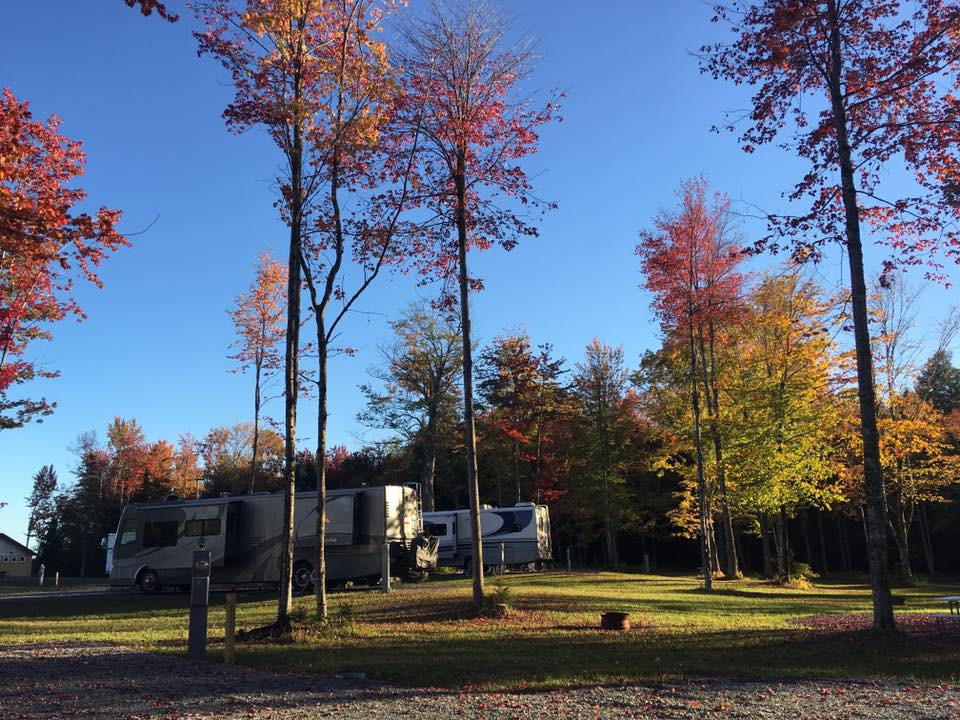 Camping in the fall in Vermont