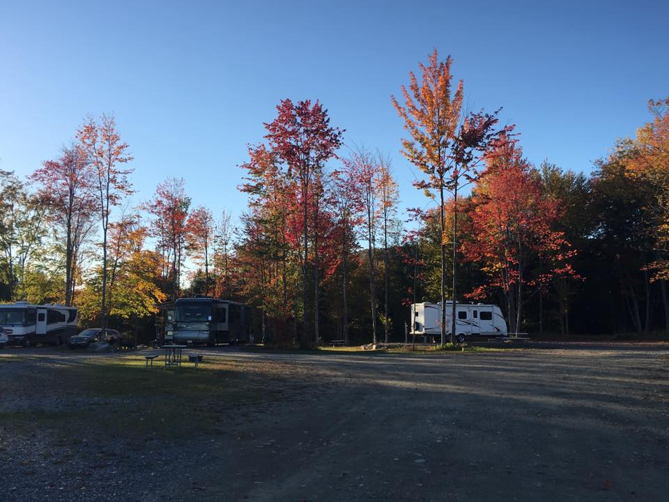 Camping during foliage season
