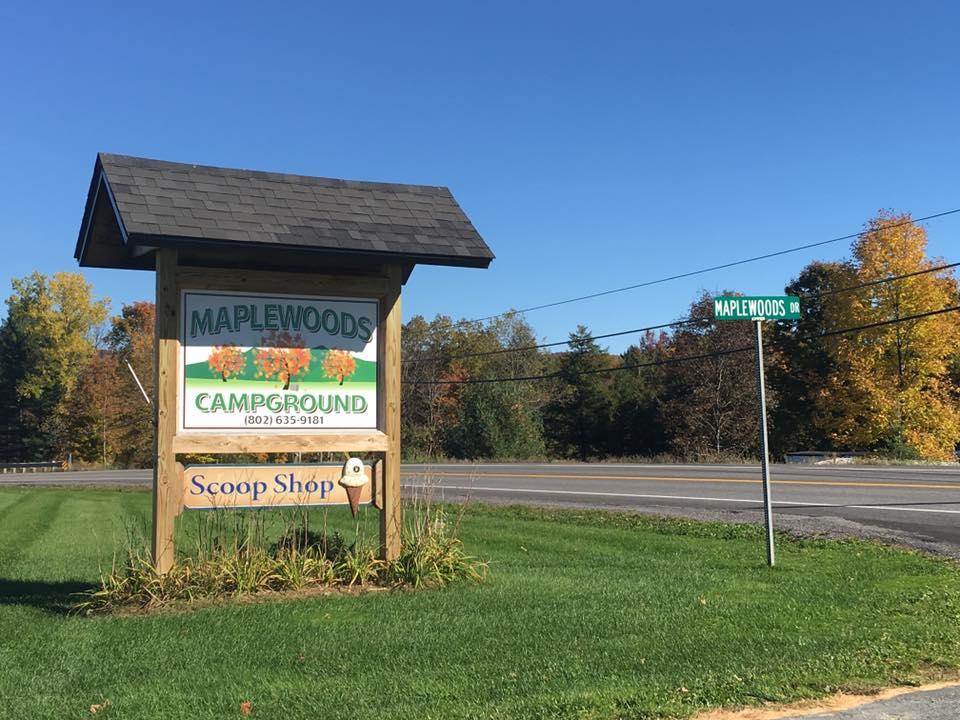 Maplewoods Campground Johnson Sign