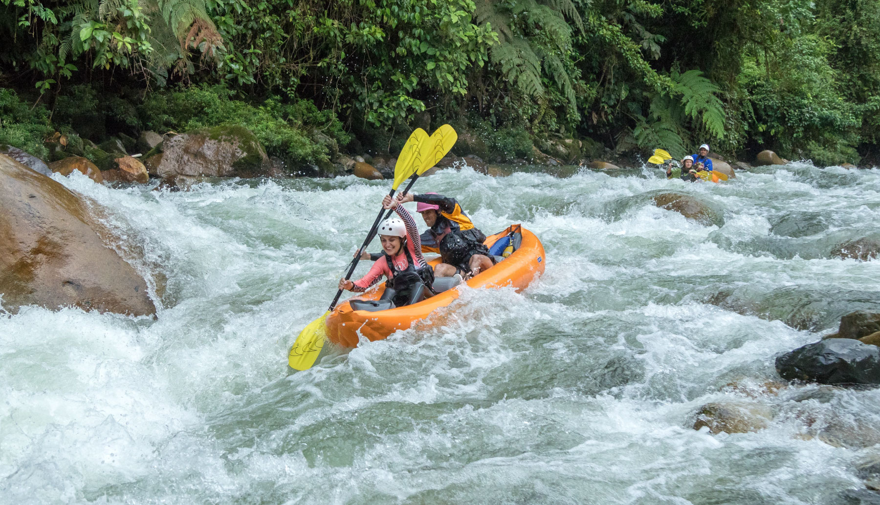 Duckie boat in Jondachi river