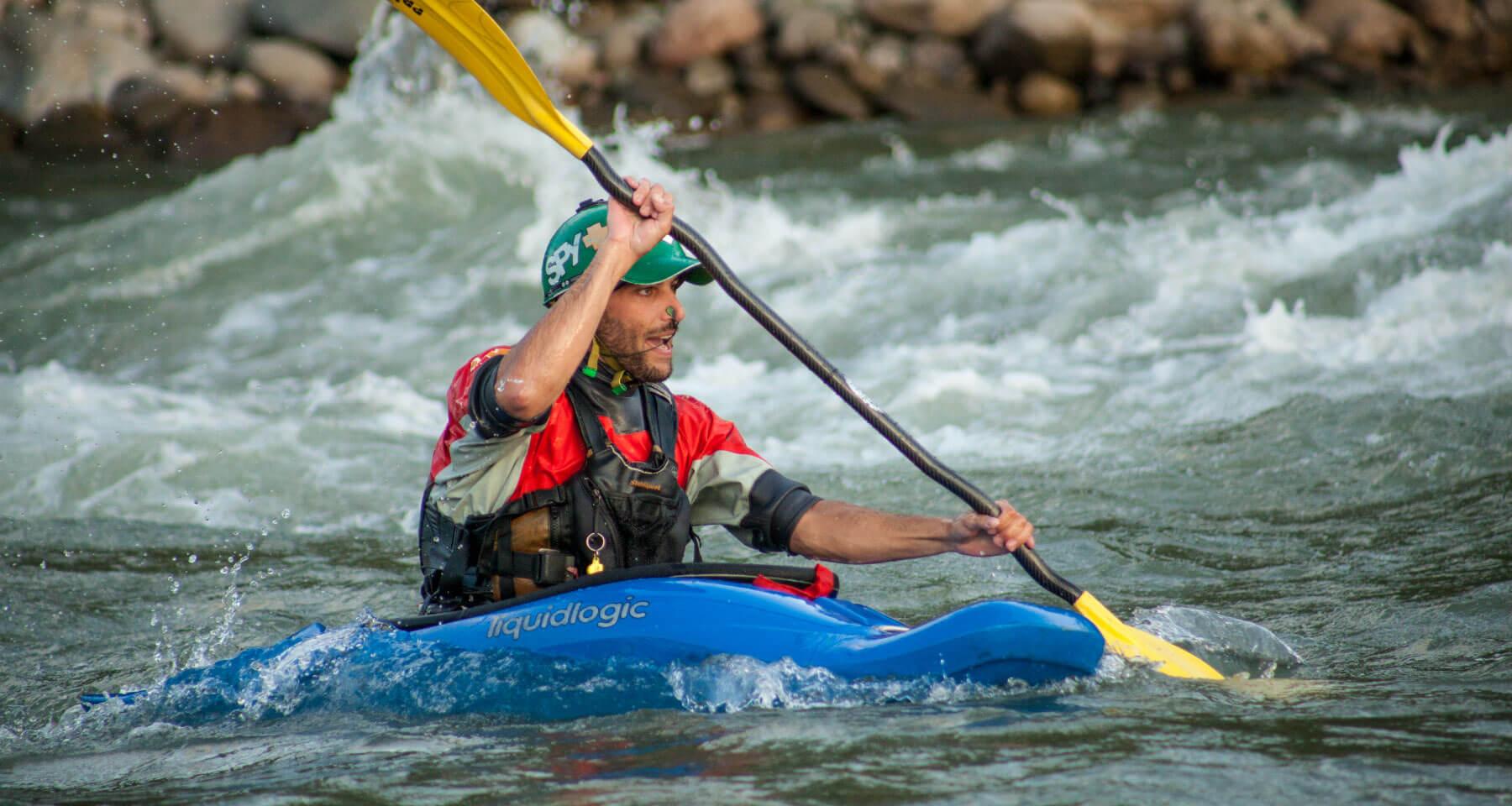Santiago Canala, Kayak Ecuador CEO kayaking