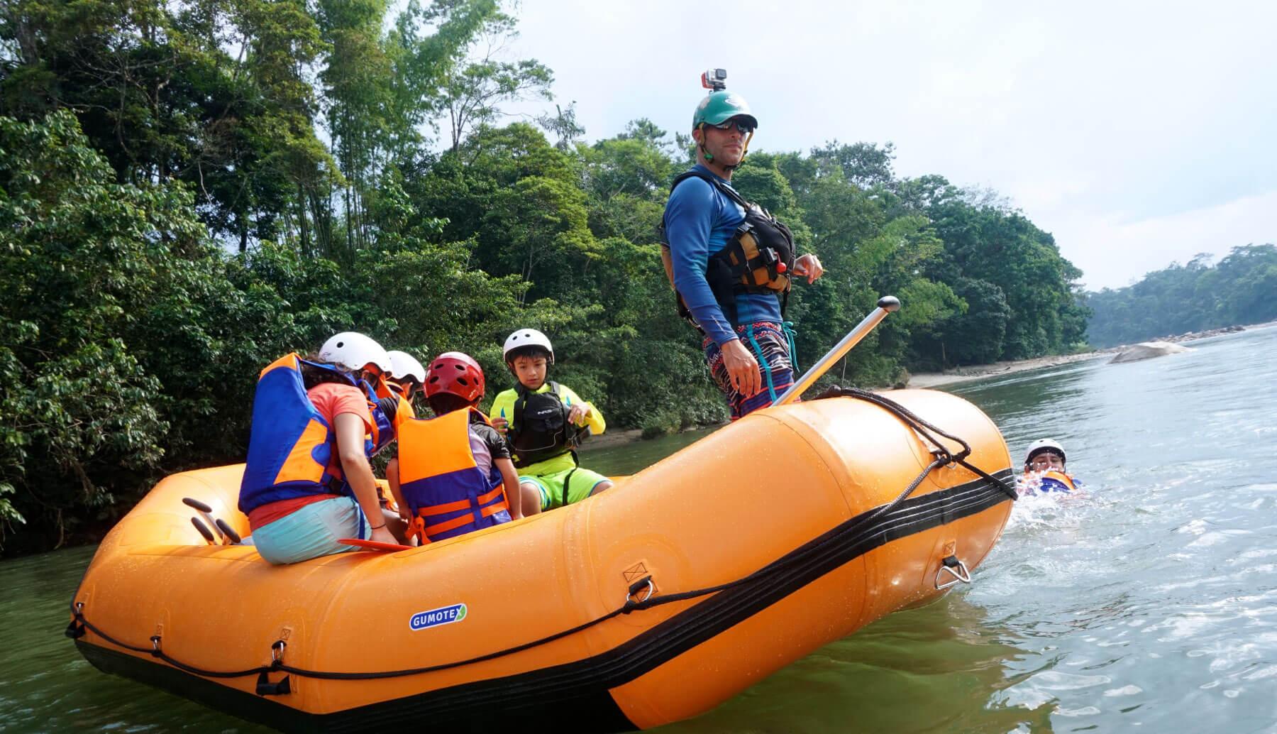Rafting para niños | Río Anzu | Kayak Ecuador