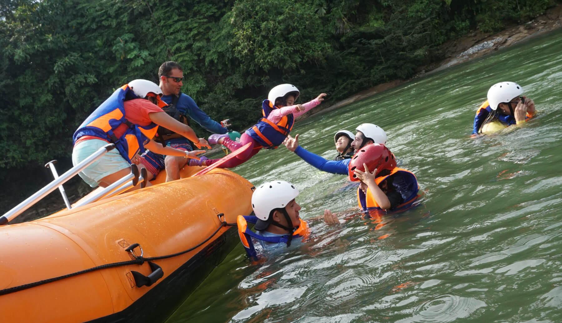 Rafting in Napo River in Ecuador, Southamerica