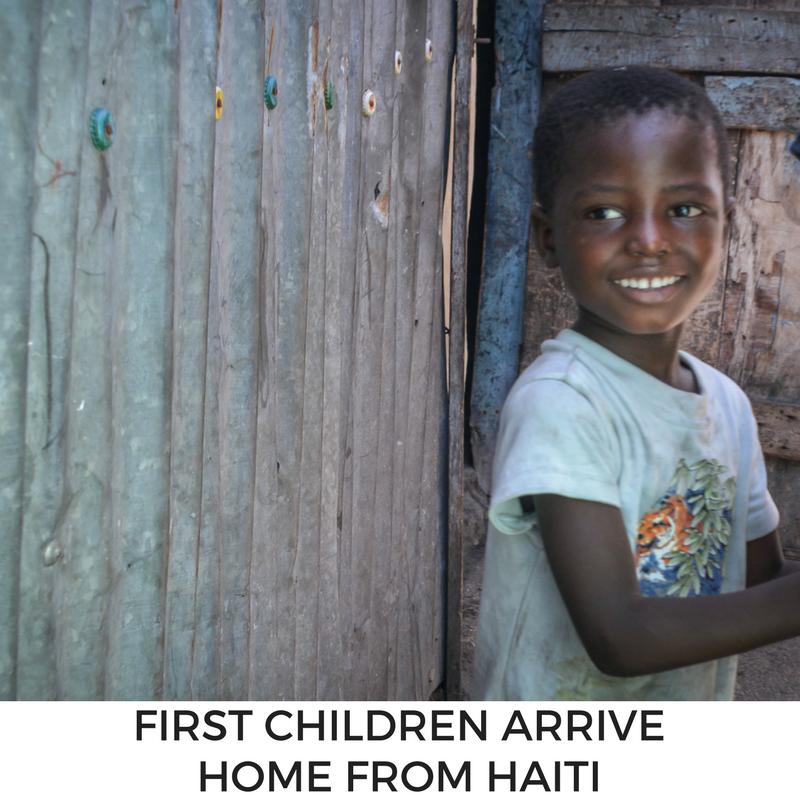 Children Home from Haiti