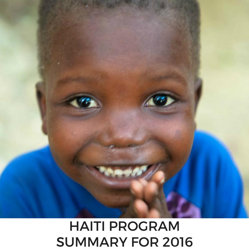 Haiti Program Summary for 2016