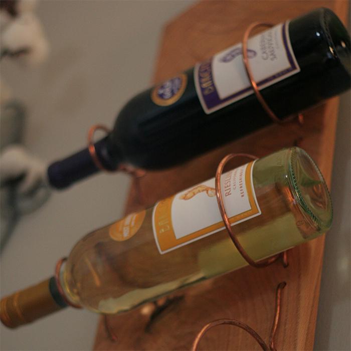 Copper Wine Rack Left 2