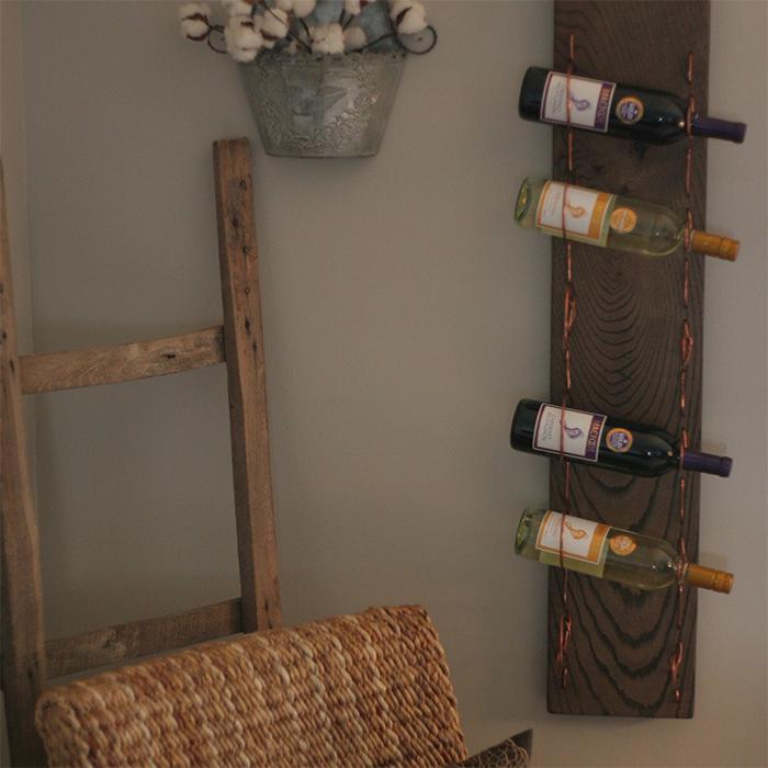 Copper Wine Rack Right 1