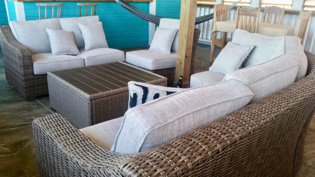 Blue Cabana open living space