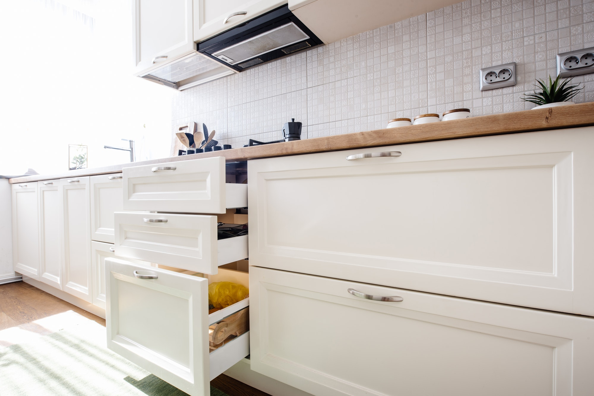 Modern Kitchen cabinets with new appliances