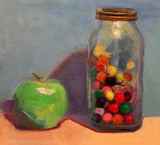 Gum Balls Oil Painting