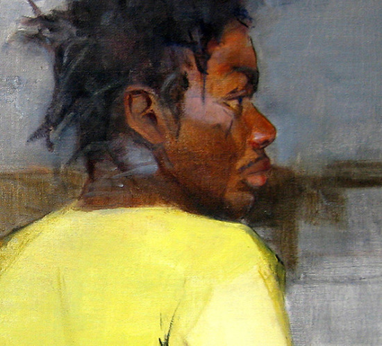 Looking Right Oil Painting