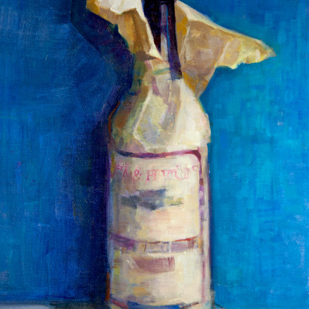 Steak Night Oil Painting