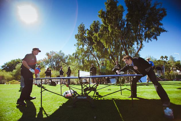 Ping Pong with Phil Mickelson