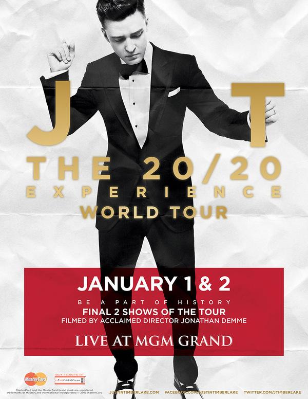 Justin Timberlake 20-20 Experience MGM Grande