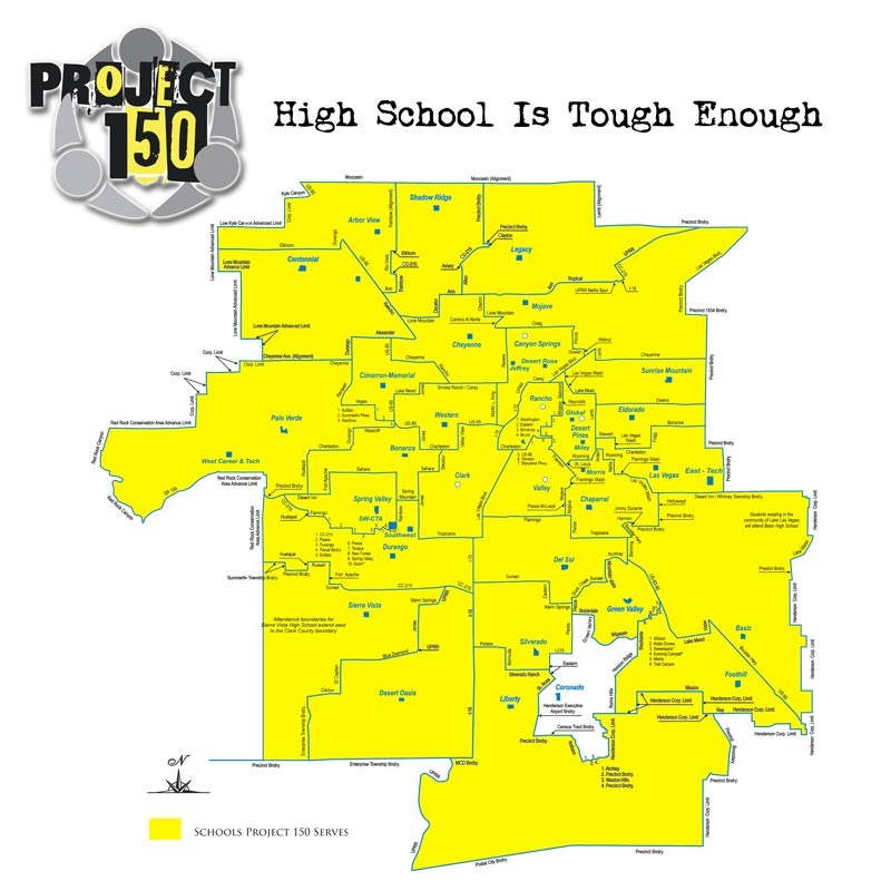 Project 150 - Map of Schools Served