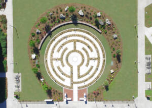 Aerial Photo of The Labyrinth at FSU