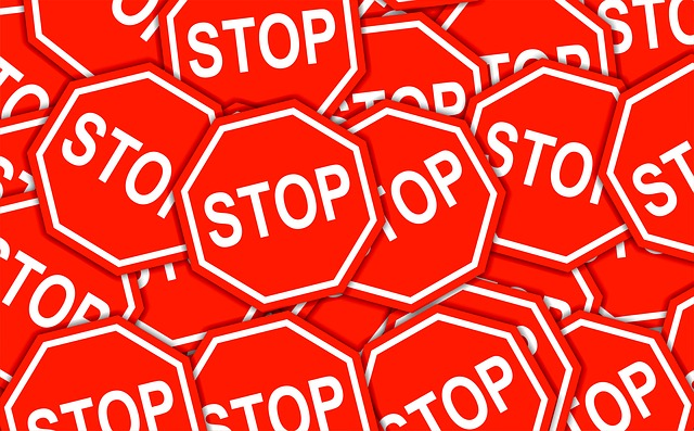 multiple stop signs