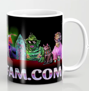 HorrorFam.com banner coffee mug