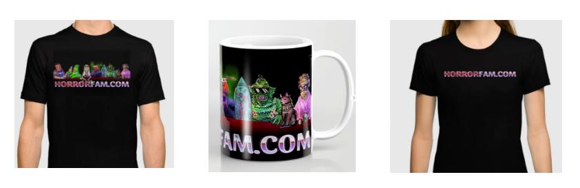 Society6 HorrorFam.com Merch