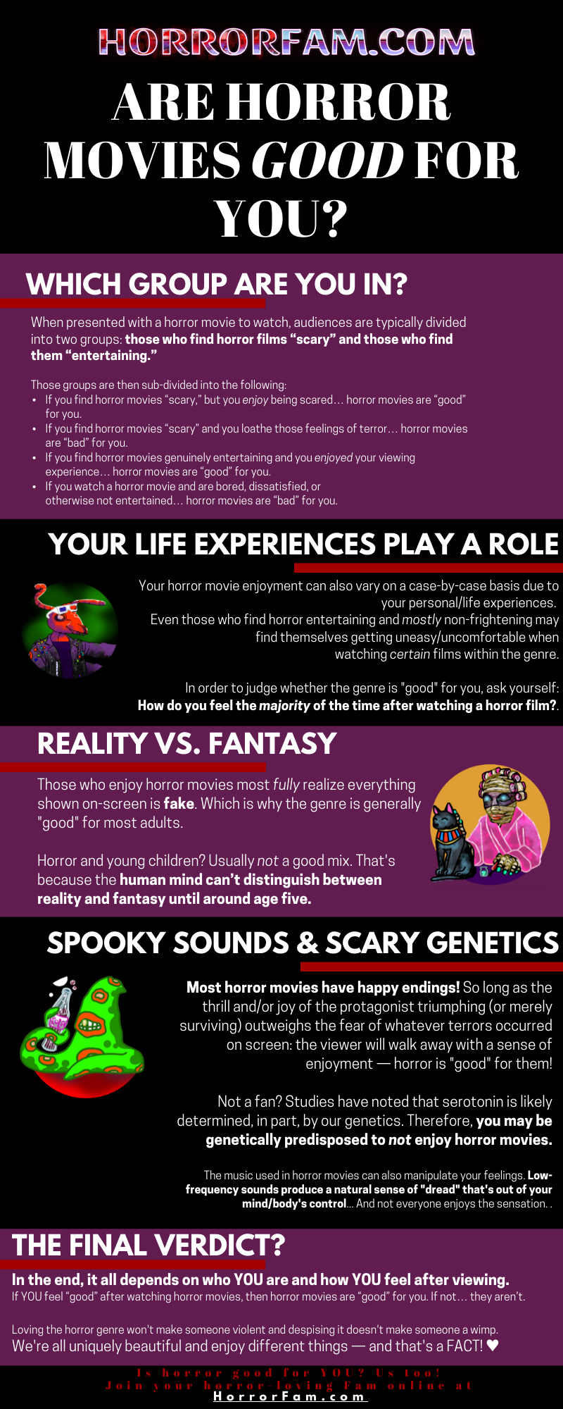 Are Horror movies Good for you INFOGRAPHIC