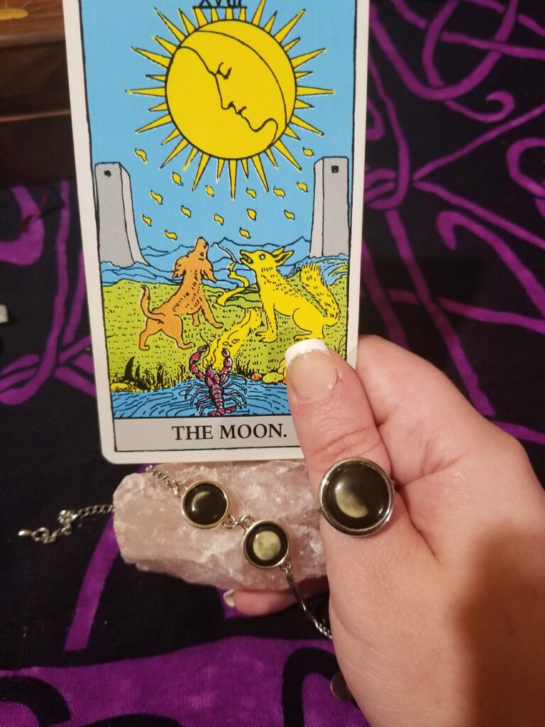 Moonglow Jewelry and The Moon tarot card