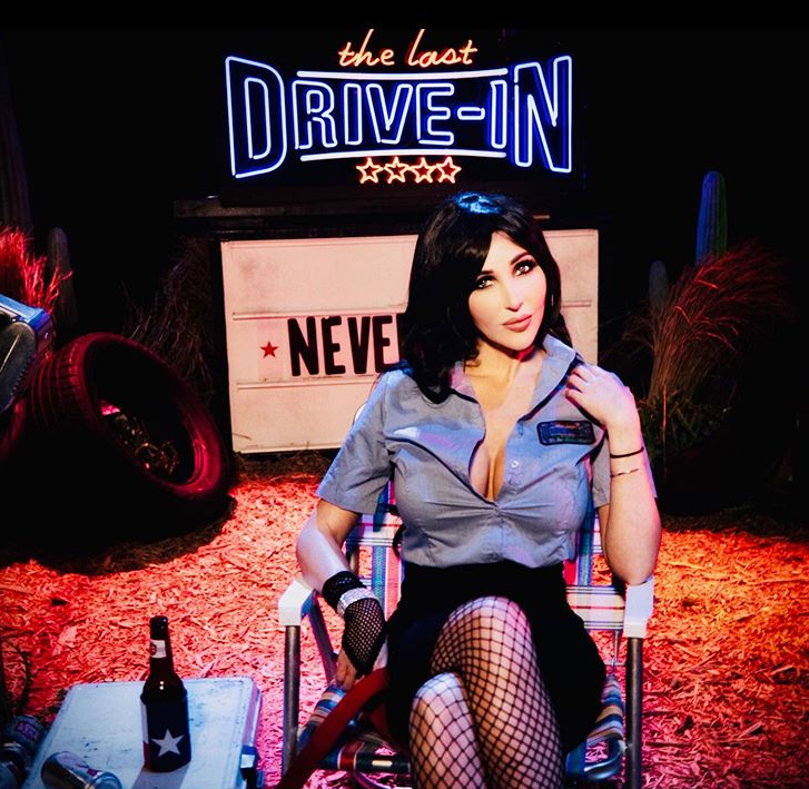 """Diana Prince as """"Darcy"""" on The Last Drive-In with Joe Bob Briggs"""