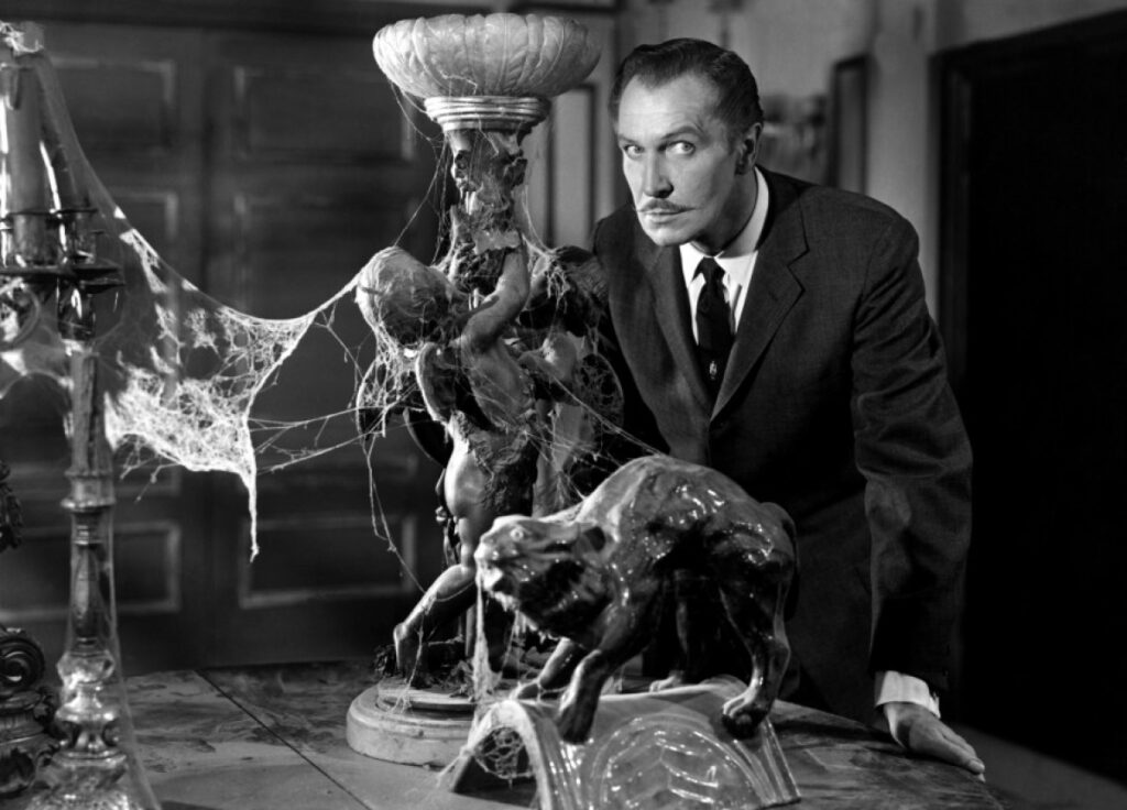 Vincent Price in House on Haunted Hill, courtesy of Wikimedia Commons