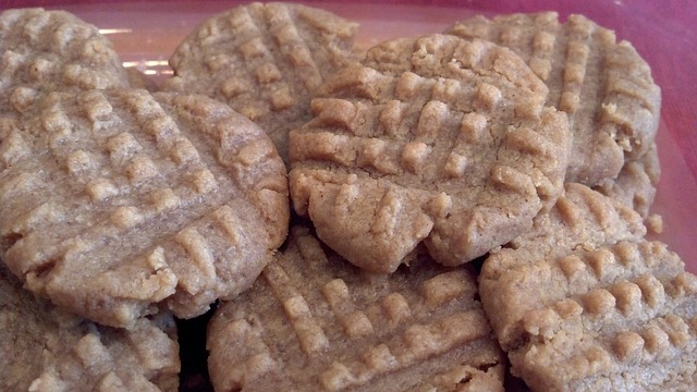 Plate full of peanut butter cookies