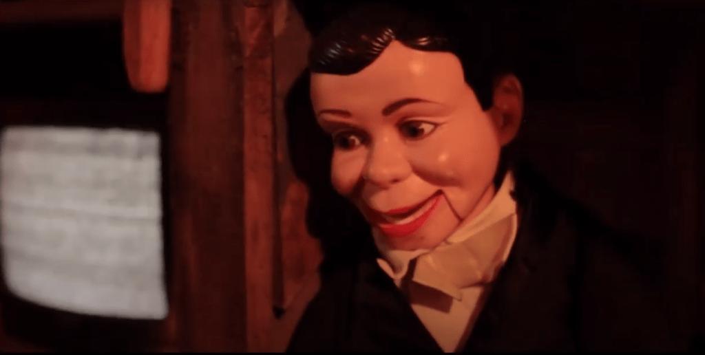 Weird Fiction screenshot featuring an old TV and a ventriloquist dummy
