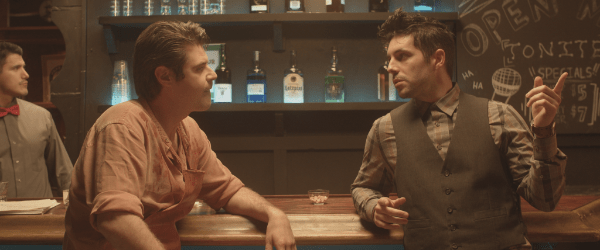 Austin Prager (left) and Robert Dunne (right) in Cannibal Comedian.