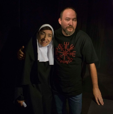 Naomi Grossman hanging out on set with Preacher Six director Grady Earls.